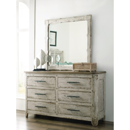 Kennewick Dresser and Mirror Set