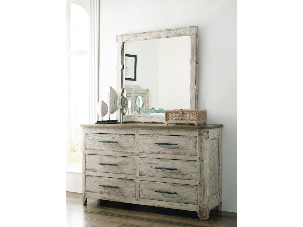Kincaid Furniture Trails Kennewick Six Drawer Dresser And Mirror Set