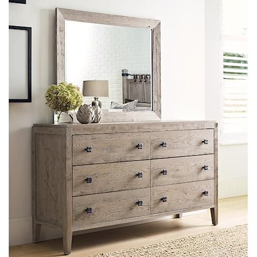 Kincaid Furniture Trails Braswell Dresser And Mirror Set Northeast