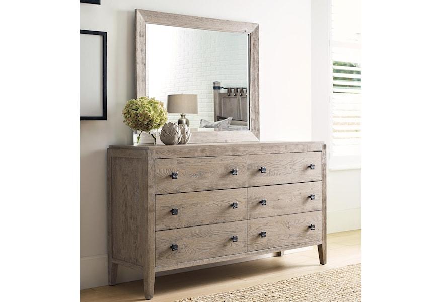 Kincaid Furniture Trails Braswell Six Drawer Dresser And Mirror