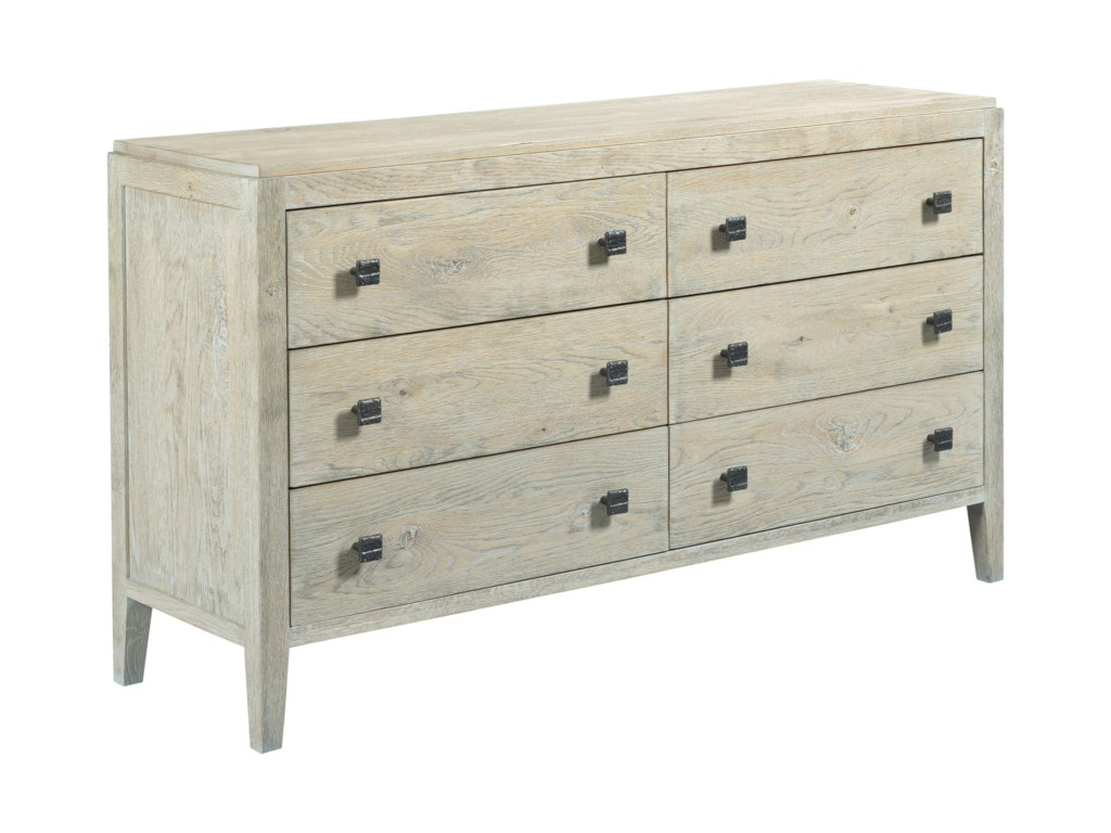 Kincaid Furniture Trails Braswell Six Drawer Dresser With Adjustable