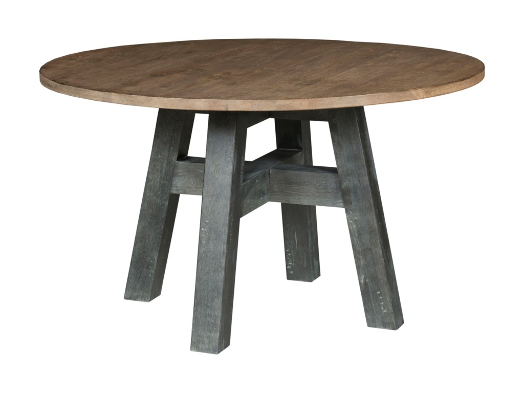 52 Round Table.Kincaid Furniture Trails Layton 52 Round Dining Table With Two Tone