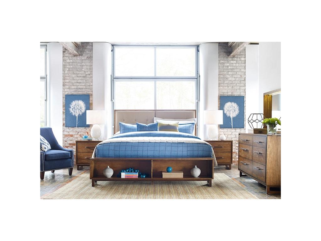 Kincaid Furniture TraversePatternmaker King Bed w/ Storage