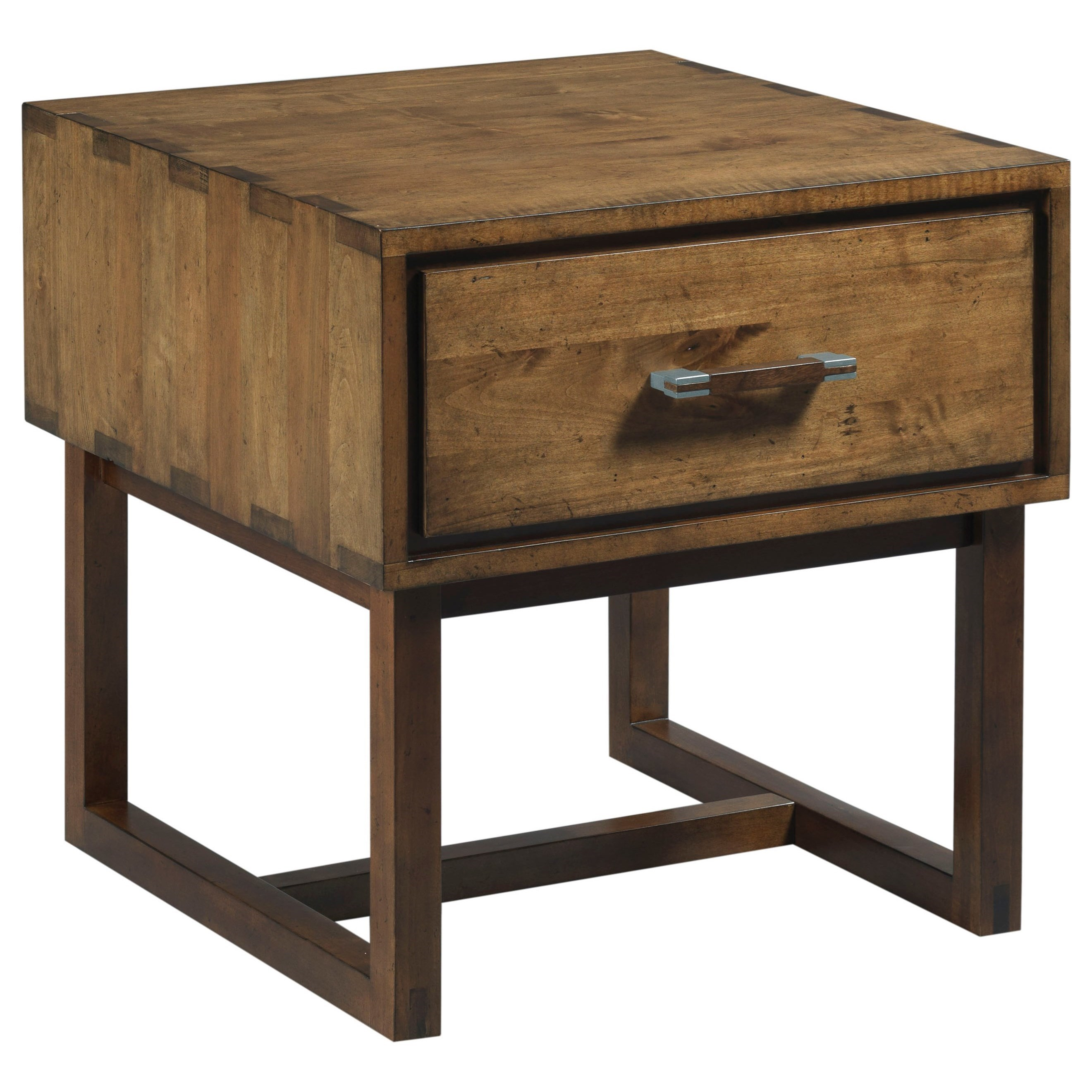 Kincaid Furniture Traverse Woodworker Modern Craftsman End Table With  Electrical Outlet   Sheelyu0027s Furniture U0026 Appliance   End Tables