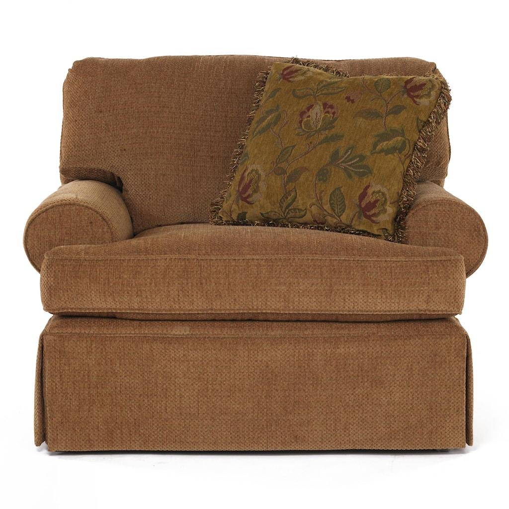 Kincaid Furniture Tulsa 041 71 Skirted Chair And A Half Becker