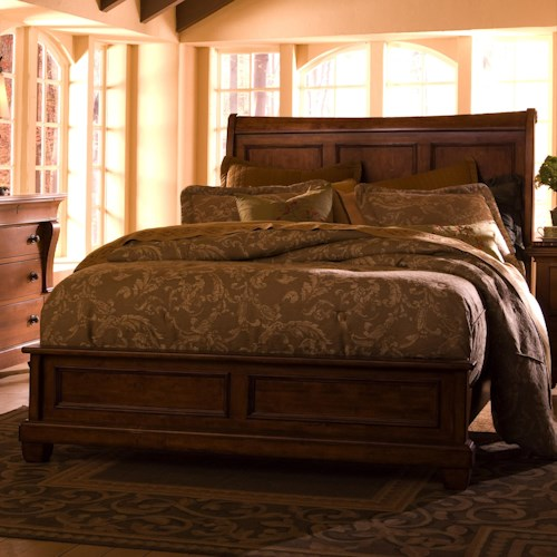 Kincaid Furniture Tuscano King Low Profile Bed With Sleigh - Kincaid tuscano bedroom furniture
