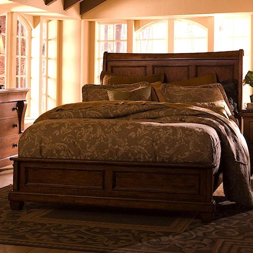 Kincaid Furniture Tuscano King Low Profile Bed With Sleigh Headboard