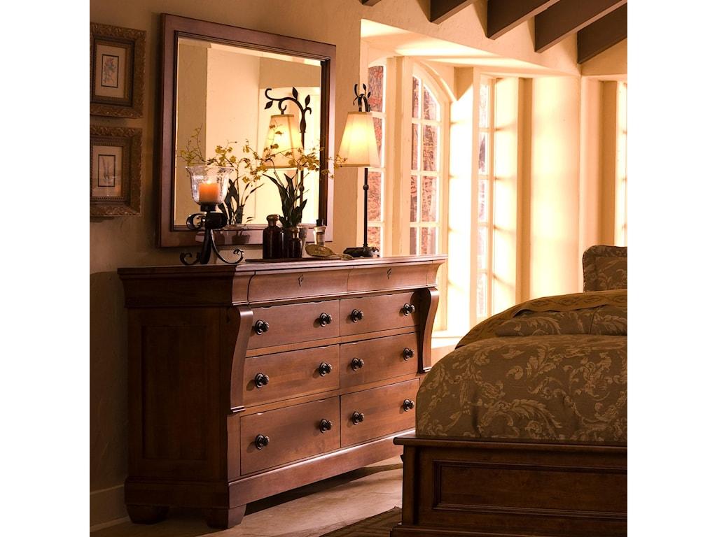 Kincaid Furniture Tuscano 8-Drawer Dresser with Landscape ...