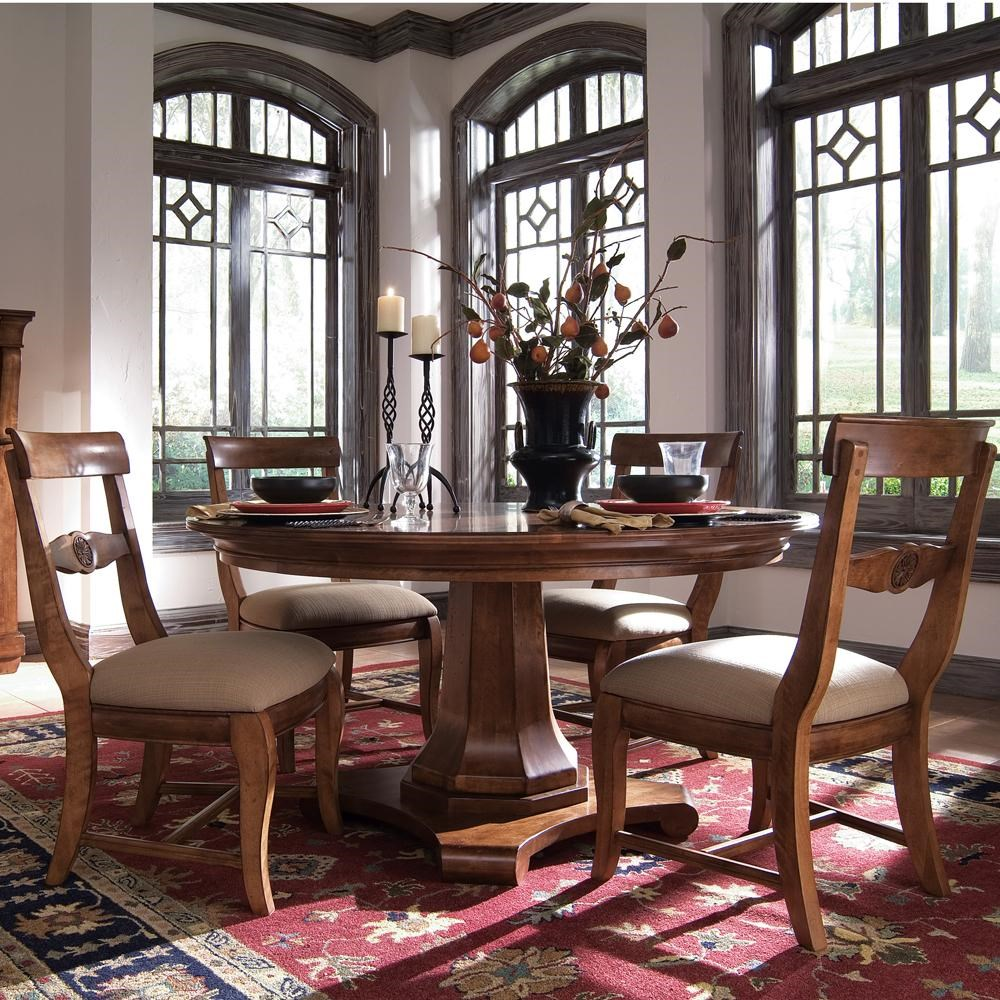 Kincaid Furniture Tuscano5 Pc. Round Pedestal Table U0026 Chair Set ...