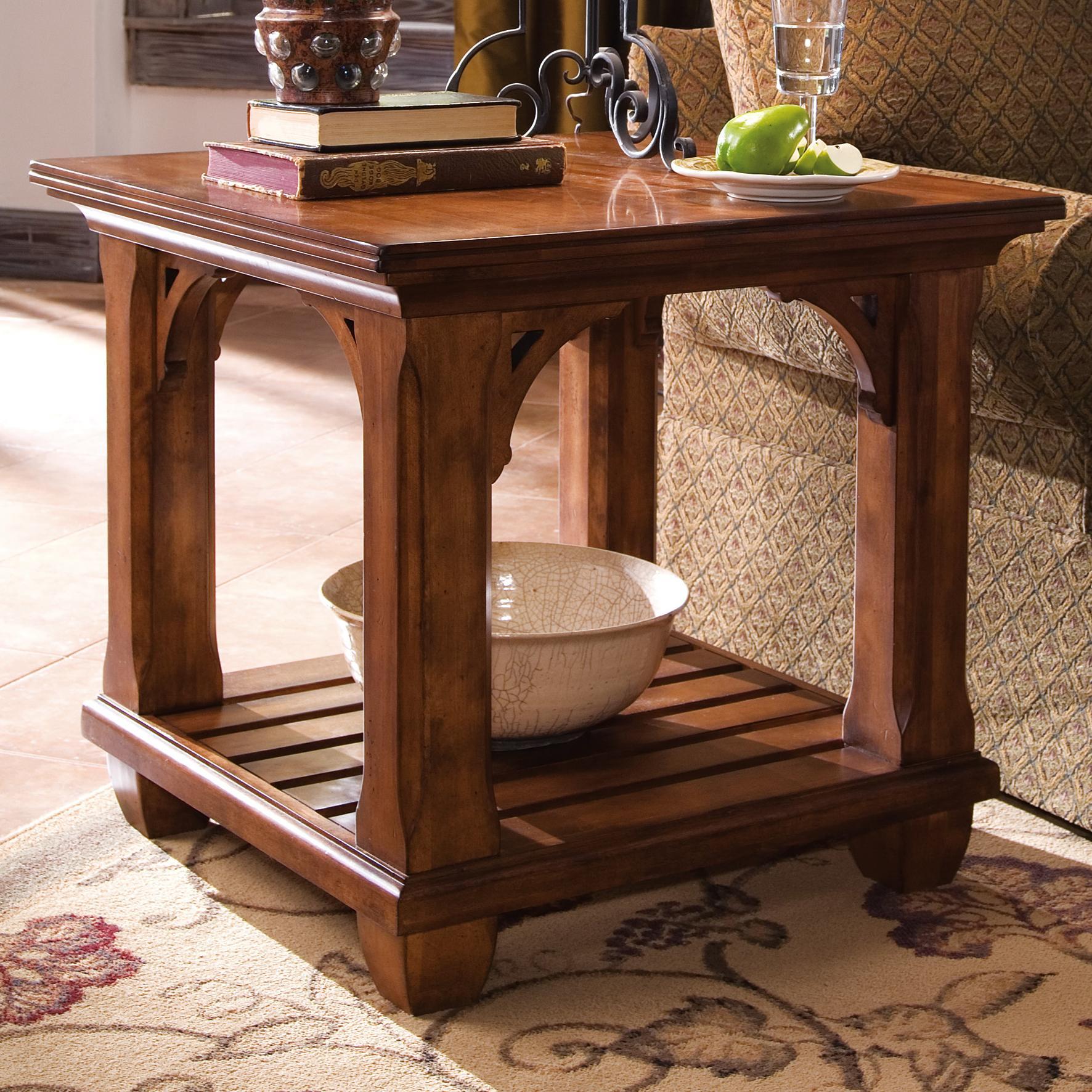 kincaid furniture tuscano square lamp table