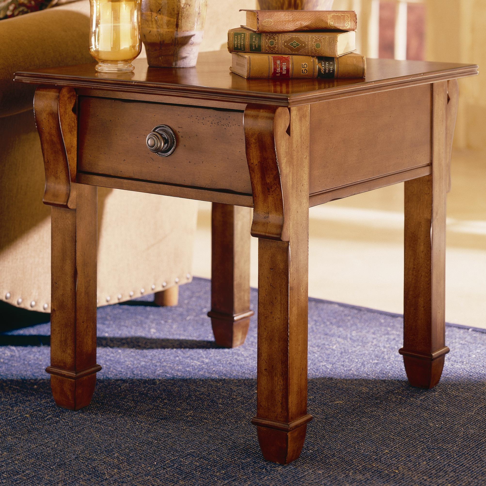 Merveilleux Kincaid Furniture Tuscano Rectangular End Table With Drawer