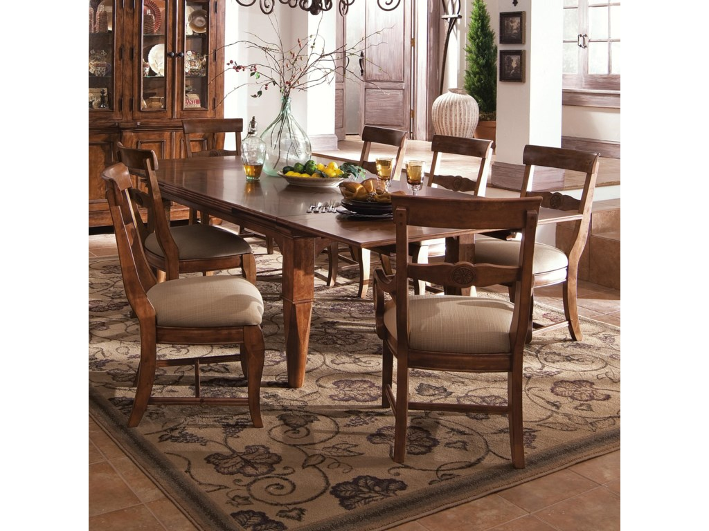 Shown with Arm Chairs and Side Chairs