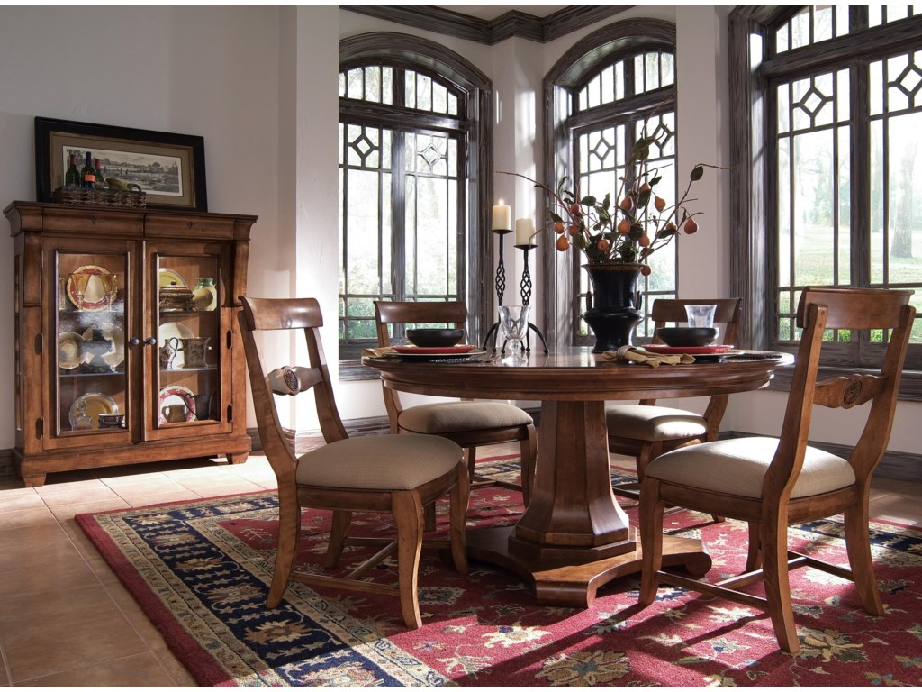 Shown with Display Cabinet, Table, and Arm Chairs