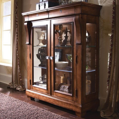Kincaid Furniture Tuscano Curio Glass Door Display Cabinet Wayside