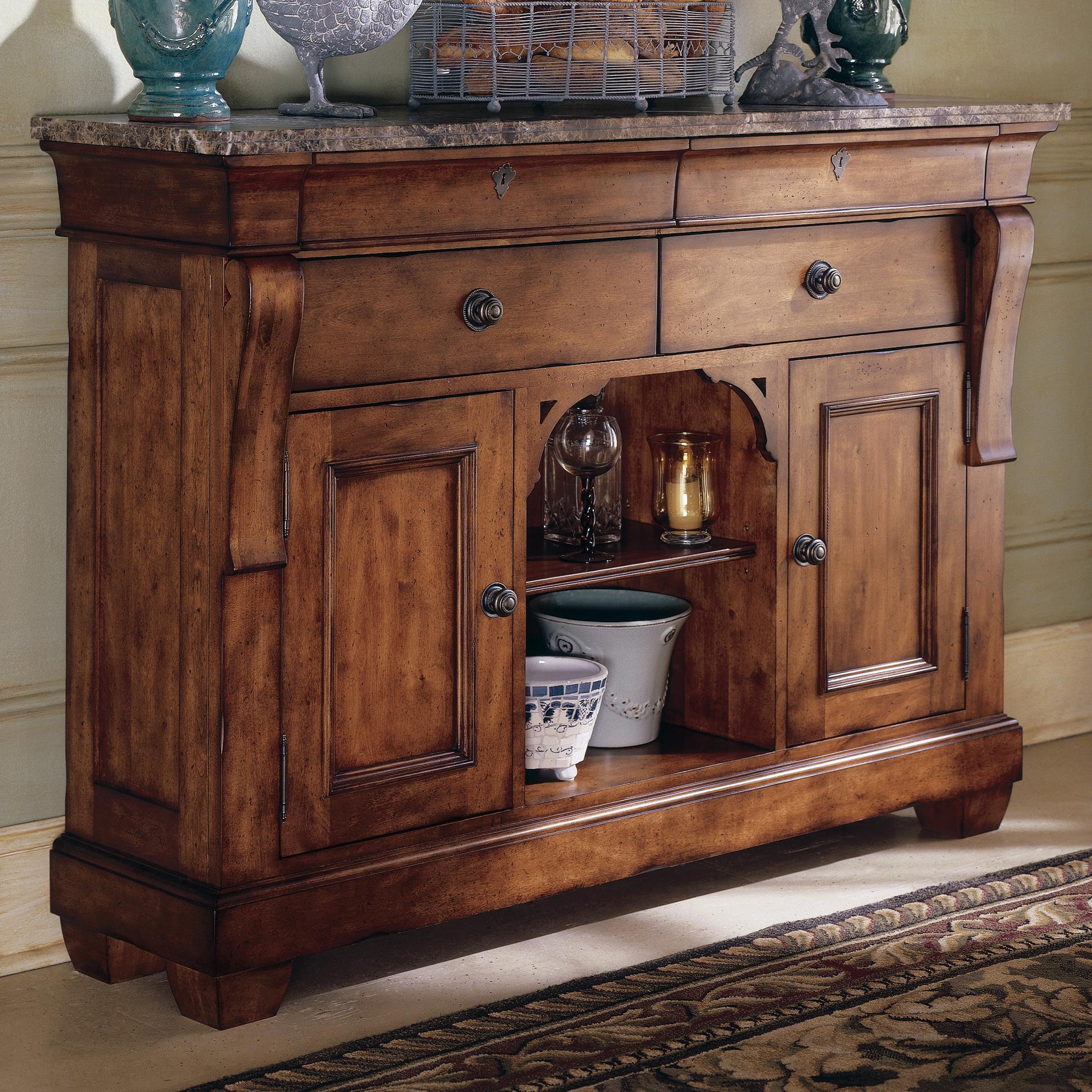 Kincaid Furniture TuscanoMarble Top Sideboard ...