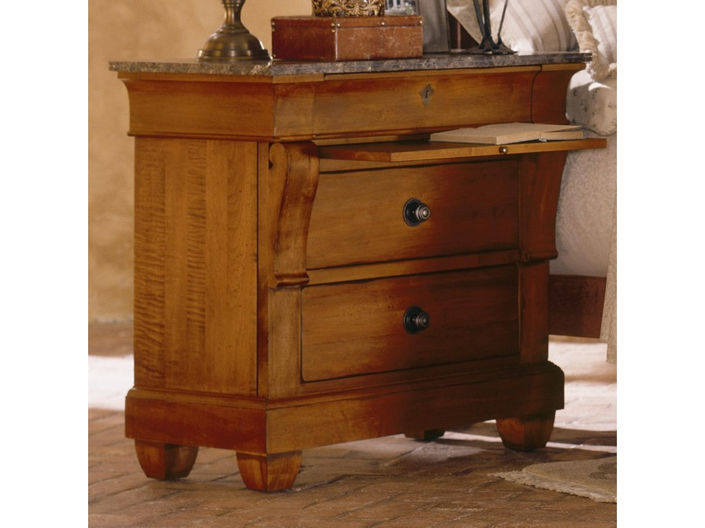 Kincaid Furniture Tuscano Bedside Chest With Marble Top Adcock - Kincaid tuscano bedroom furniture