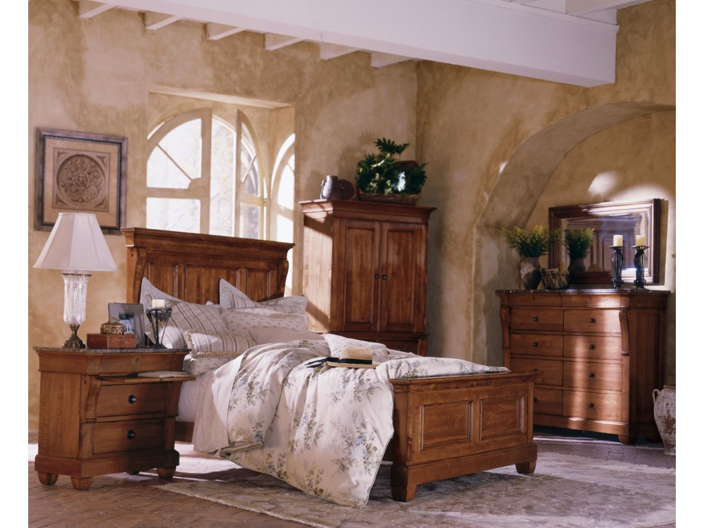 Shown with Panel Bed, Armoire, Dresser, and Landscape Mirror
