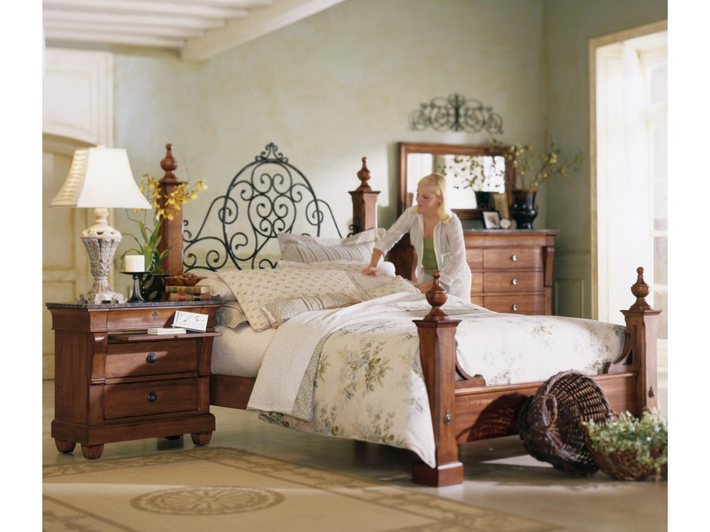 Shown with Poster Bed, Dresser, and Landscape Mirror