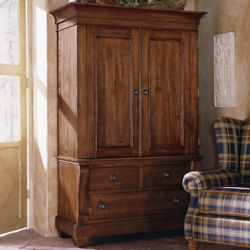 Kincaid Furniture Tuscano Two Door Armoire with 3 Drawers