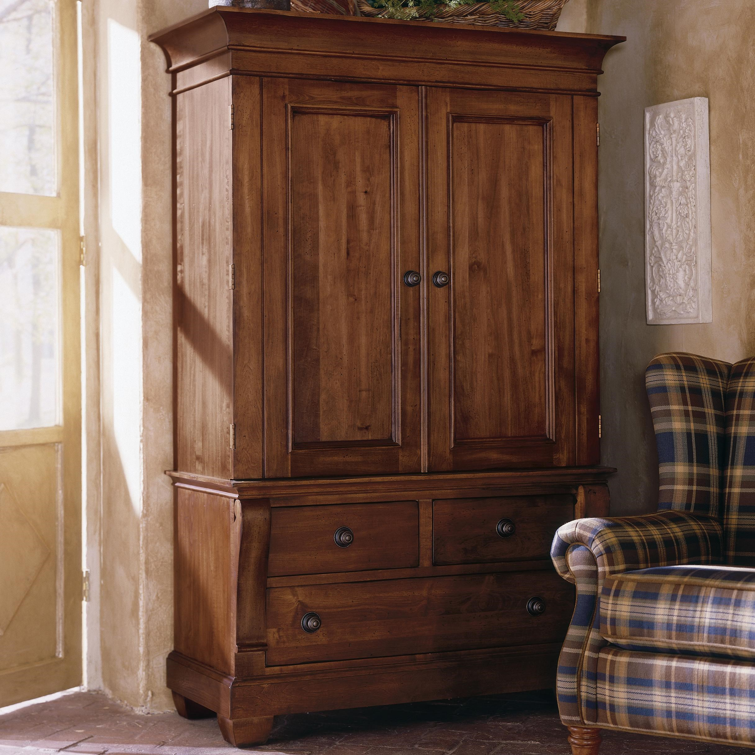 Kincaid Furniture Tuscano Two Door Armoire with 3 Drawers & Kincaid Furniture Tuscano Two Door Armoire with 3 Drawers ...