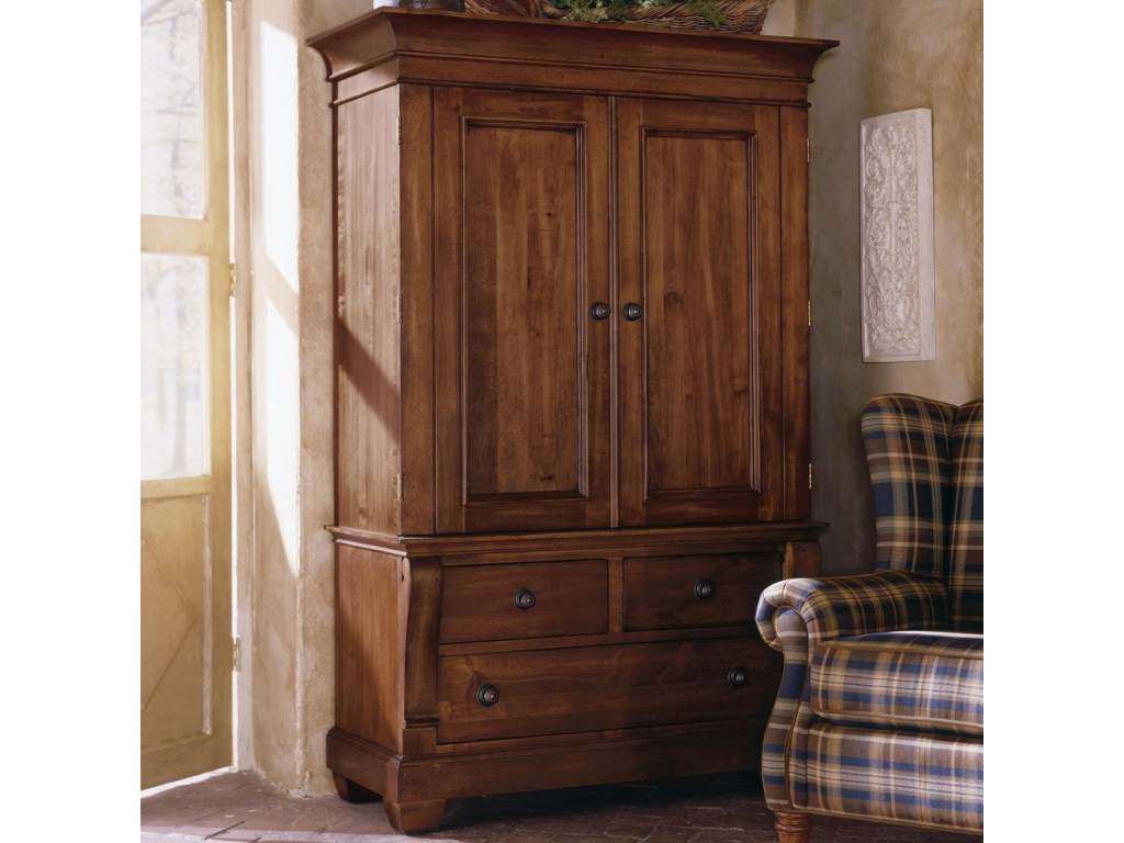 Kincaid Furniture Tuscano 96-165V Two Door Armoire with 3 Drawers | Becker  Furniture World | Armoires
