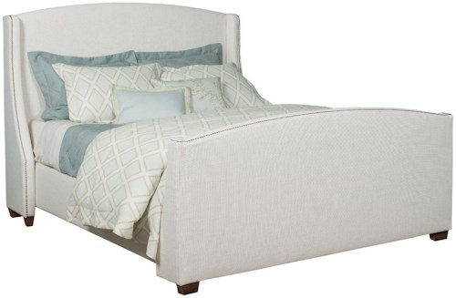 Kincaid Furniture Upholstered Beds Westchester Queen Bed with Nailhead Trim