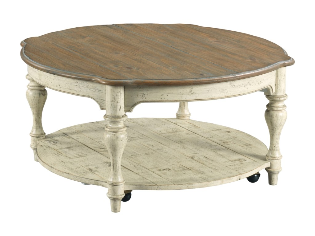 Kincaid Furniture WeatherfordBolton Round Cocktail Table