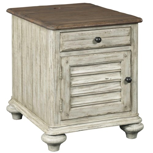 Kincaid Furniture Weatherford Chairside Chest with 1 Drawer and 1 Shutter-Style Door
