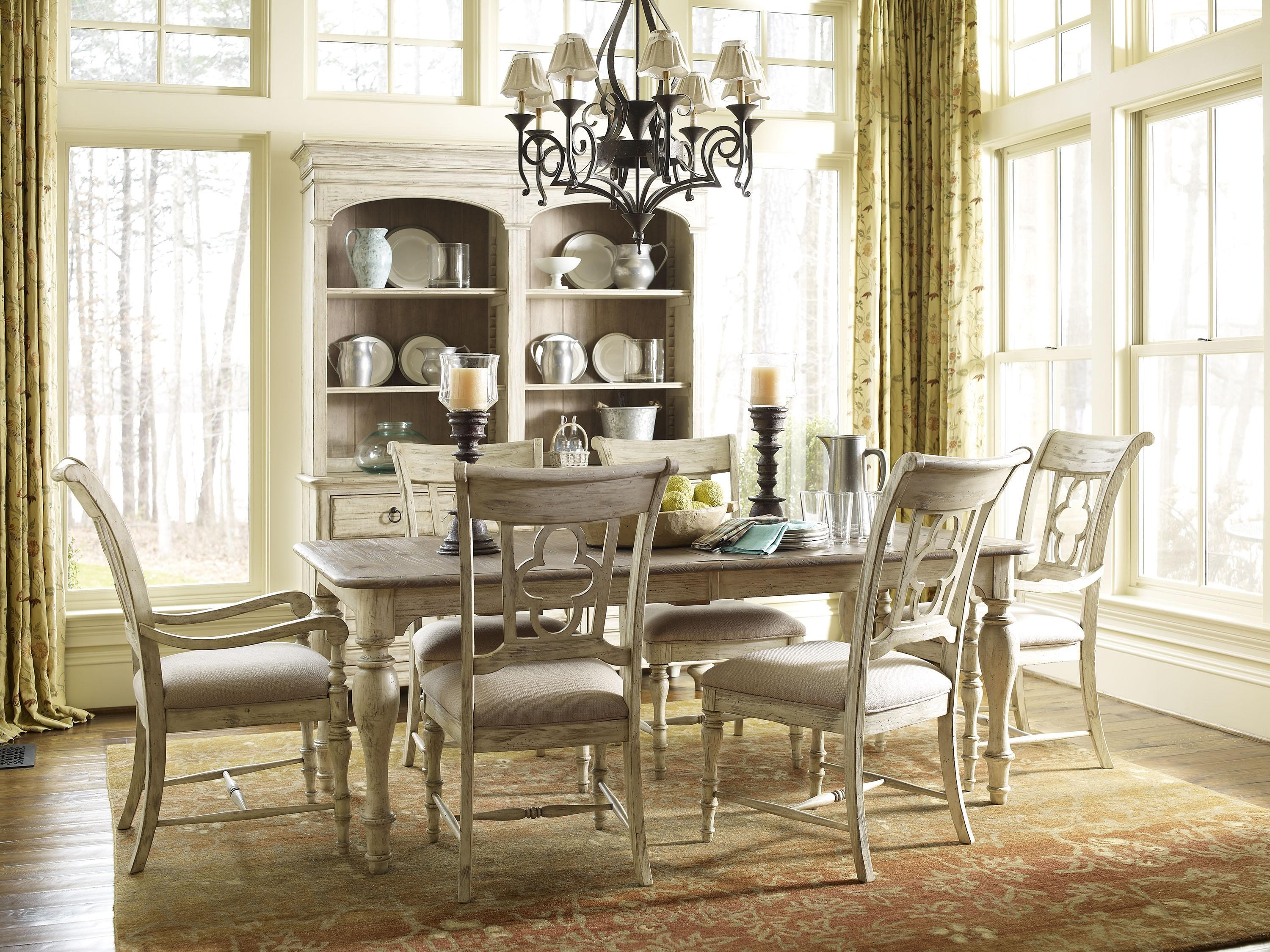 Superbe Kincaid Furniture Weatherford 7 Piece Dining Set With Canterbury Table And  Quatrefoil Back Chairs