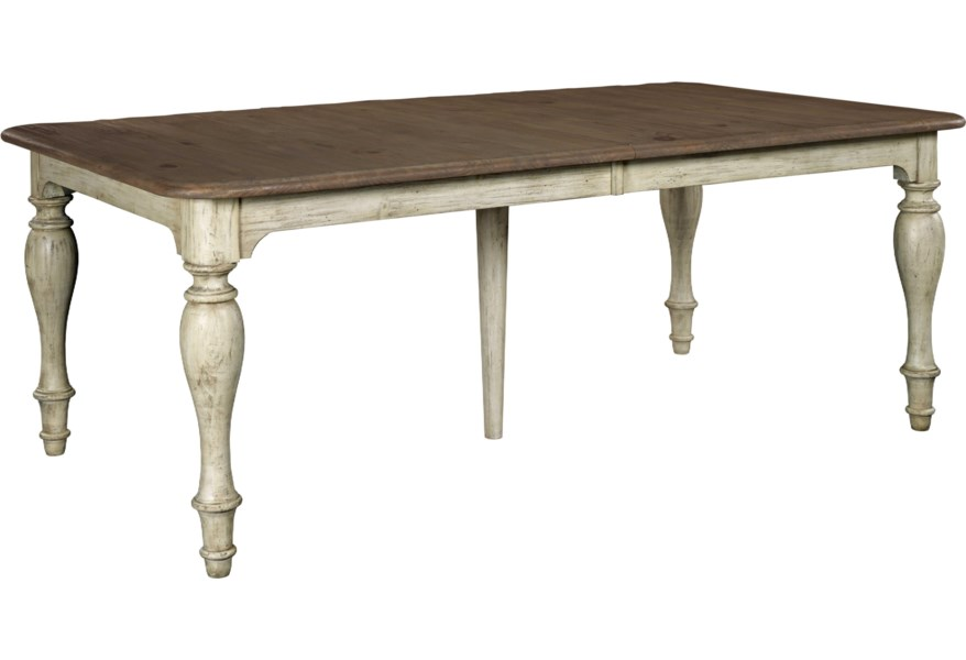Kincaid Furniture Weatherford 0157089 Canterbury Table With 4 Turned Legs And Rectangular Curved Table Top Becker Furniture Dining Tables