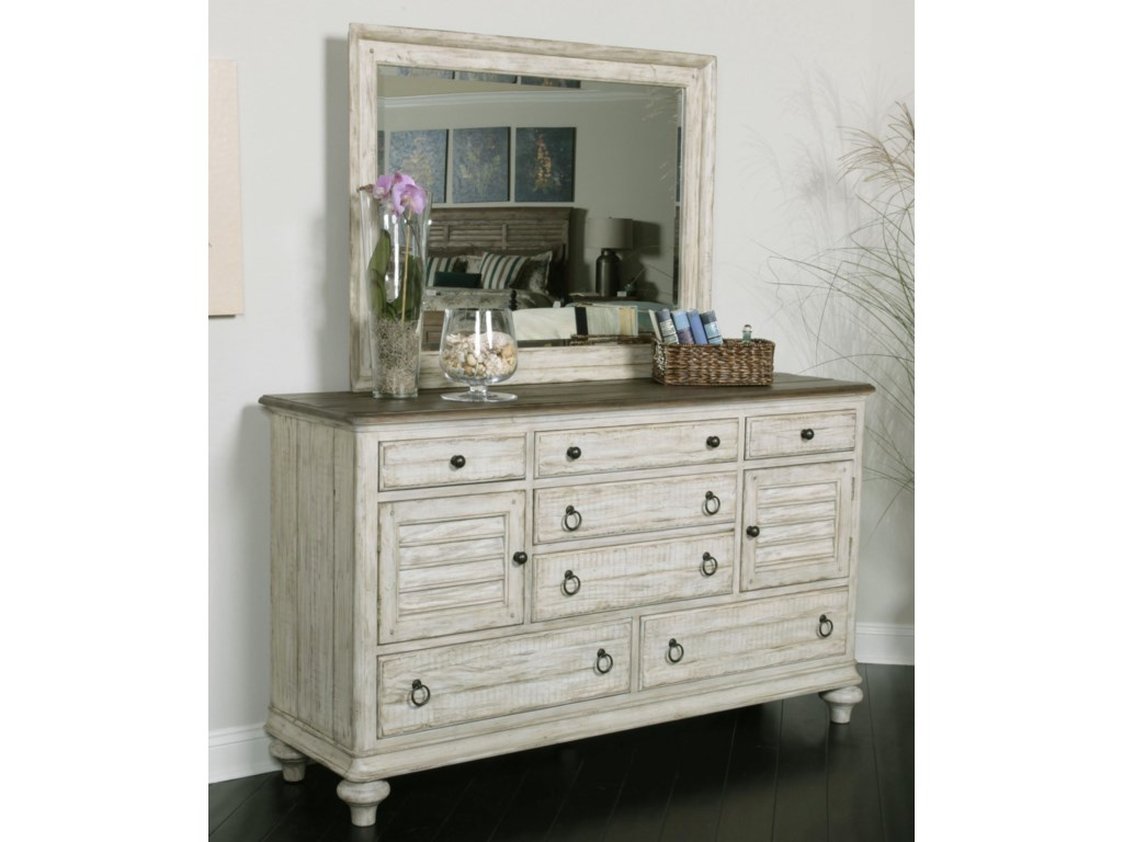 Kincaid Furniture WeatherfordDresser and Mirror Combo