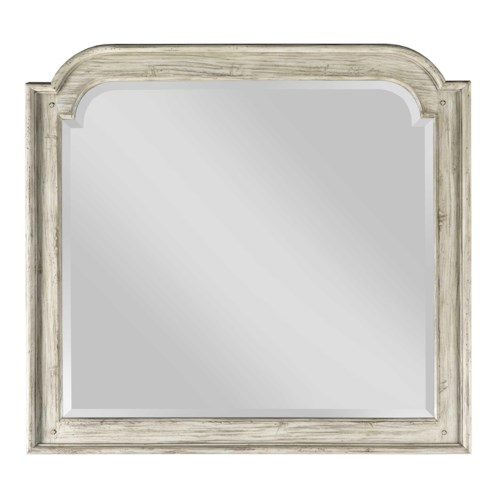Kincaid Furniture Weatherford Westland Mirror with Wooden Frame and Beveled Mirror