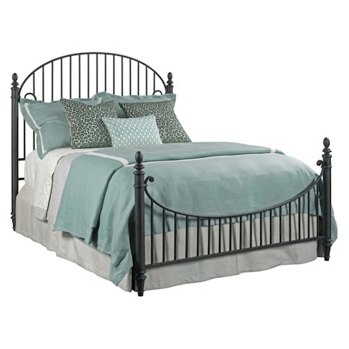 Kincaid Furniture Weatherford Catlins Metal Queen Bed Package with Metal Slat Headboard and Footboard