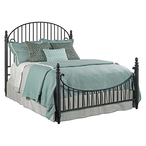 Kincaid Furniture Weatherford Catlins Metal King Bed Package with Metal Slat Headboard and Footboard