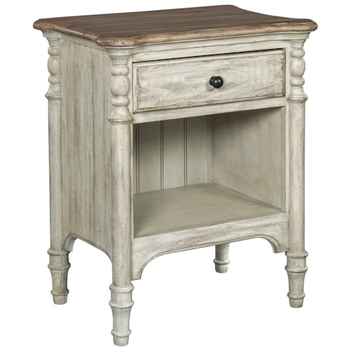 Kincaid Furniture Weatherford Open Nightstand with 1 Drawer and 1 Lower Shelf