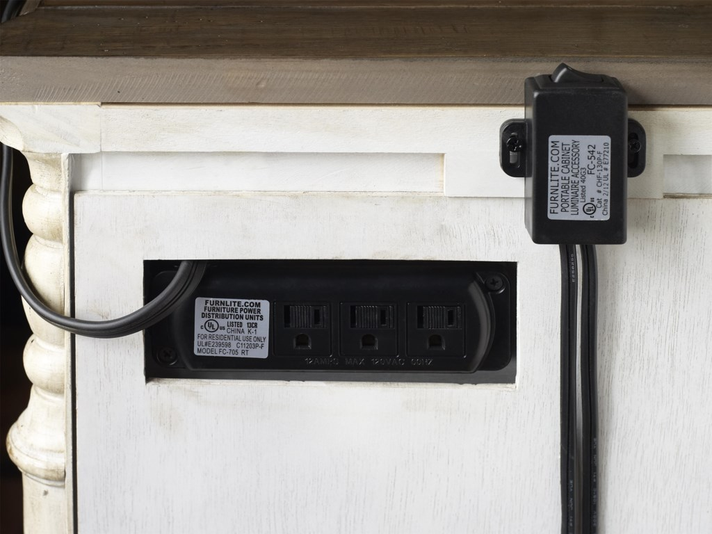 Hidden Electrical Multi-Outlet Power Strip for Easy Accessibility