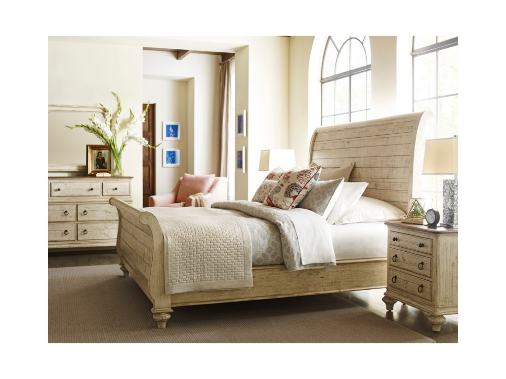 Kincaid Furniture WeatherfordLynton Sleigh Queen Bed