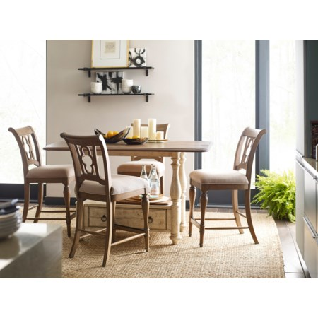 5-Piece Kitchen Island and Chair Set