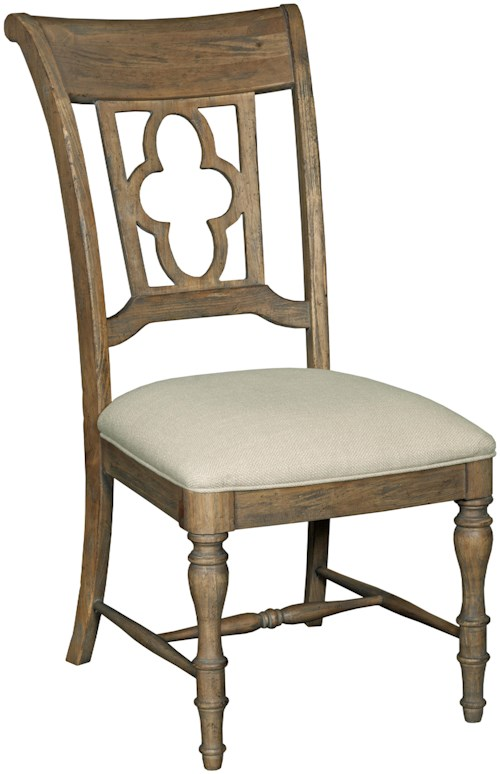 Kincaid Furniture Weatherford Side Chair with Quatrefoil Back