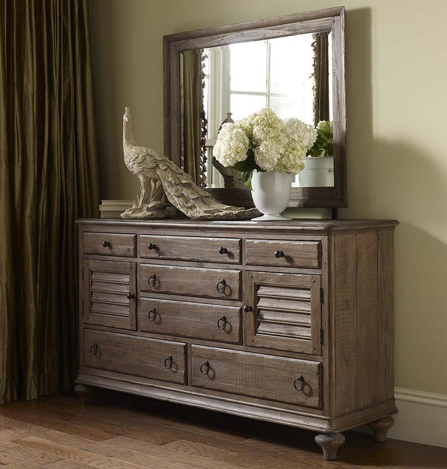 Kincaid Furniture Weatherford Ellesmere Dresser And Weatherford Landscape  Mirror Combination
