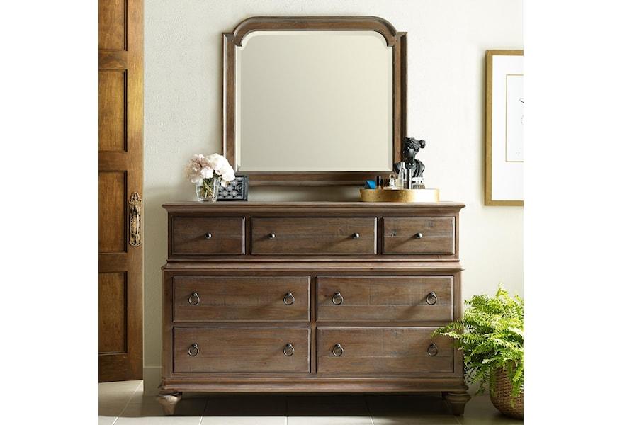 Kincaid Furniture Weatherford Wellington Dresser And Westland Mirror Combination Lindy S Furniture Company Dresser Mirror Sets