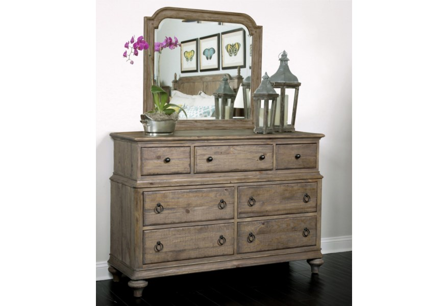 Kincaid Furniture Weatherford Wellington Drawer Dresser With 7 Drawers And Flip Down Drawer Belfort Furniture Dressers