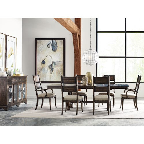 Kincaid Furniture Wildfire Eight Piece Formal Dining Room Group