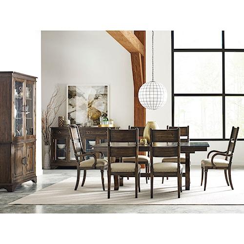 Kincaid Furniture Wildfire Nine Piece Formal Dining Room Group