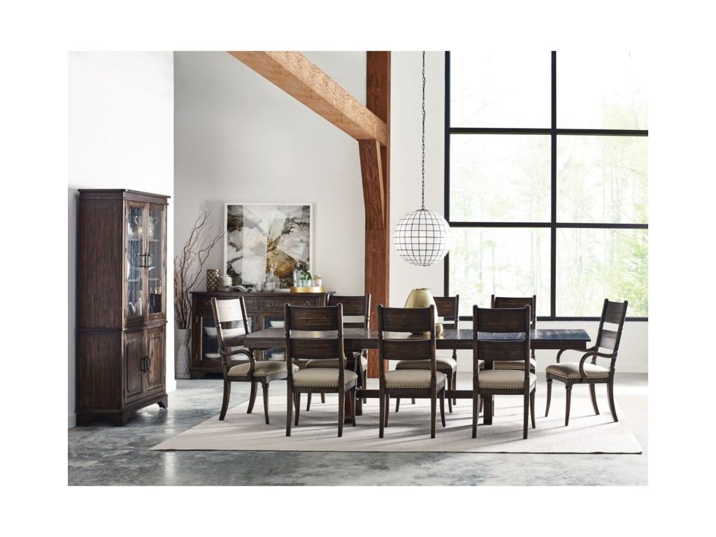 Kincaid Furniture Wildfire11 Pc Formal Dining Room Group