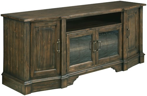 Kincaid Furniture Wildfire Wildfire TV Stand with Seeded Glass Doors and Built-In Power Strip