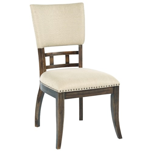 Kincaid Furniture Wildfire Tweed Upholstered Side Chair with Nailhead Trim