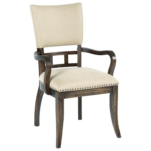 Kincaid Furniture Wildfire Tweed Upholstered Arm Chair with Nailhead Trim