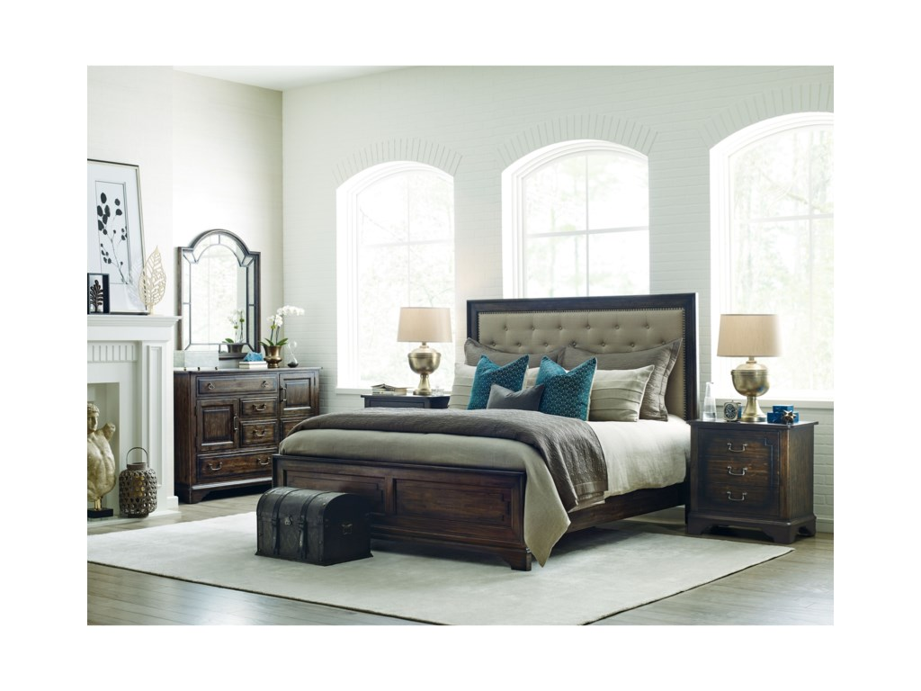 Kincaid Furniture WildfireTweed Queen Bed Package
