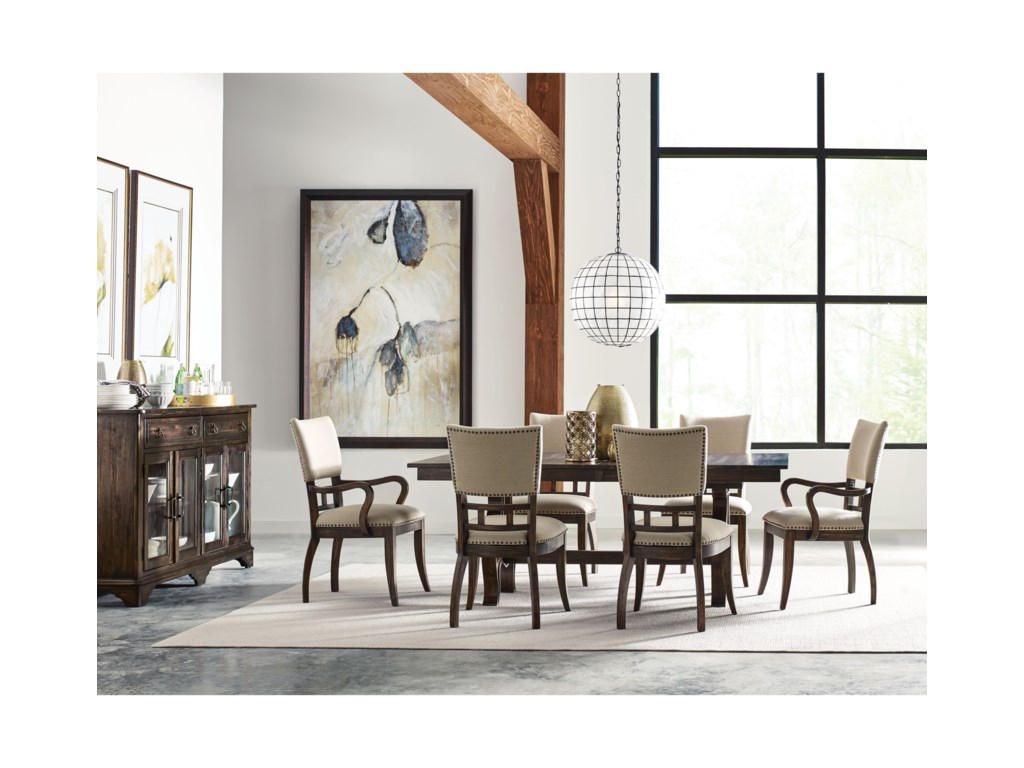 Kincaid Furniture Wildfire8 Pc Formal Dining Room Group